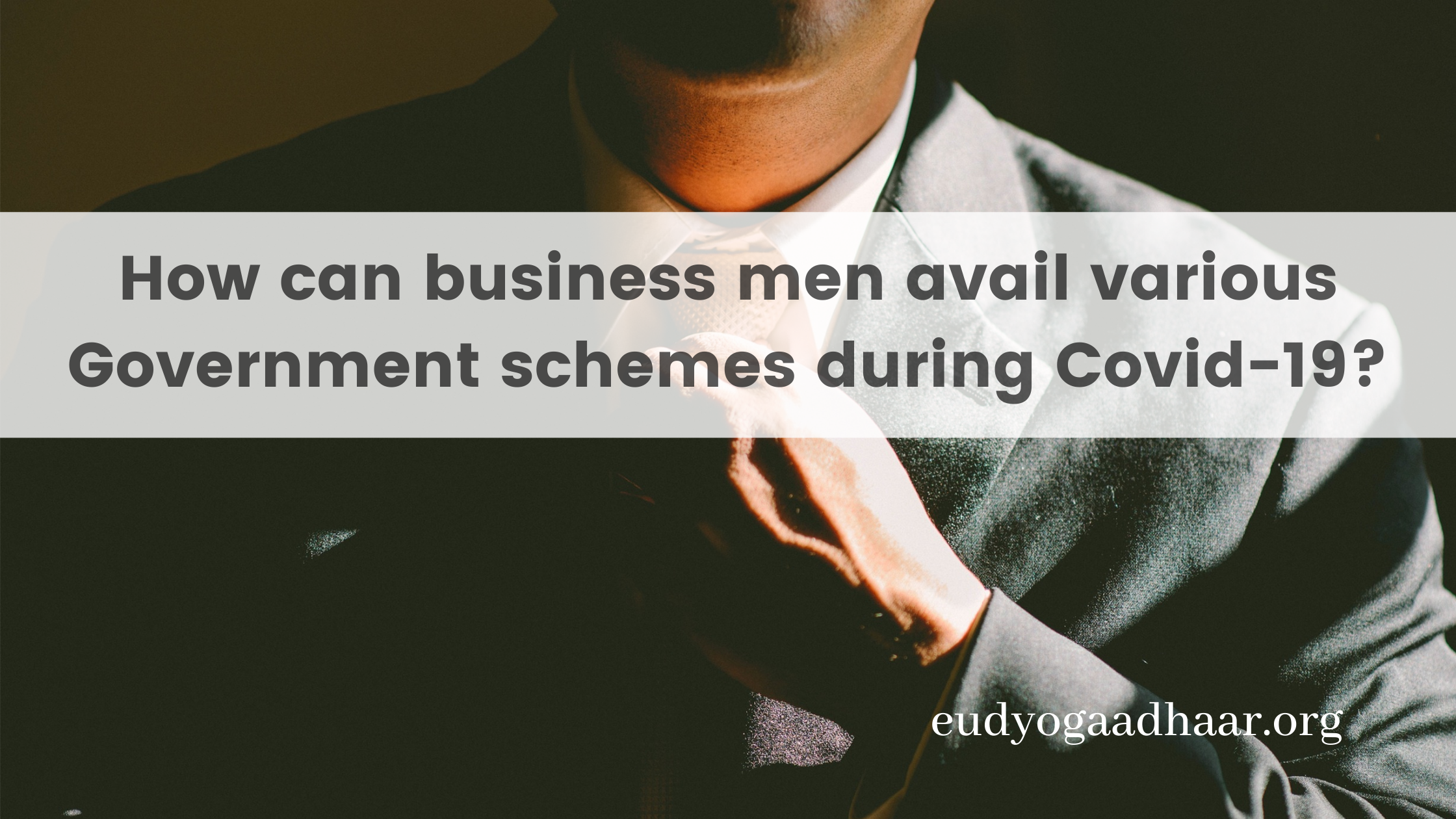 How can business men avail various Government schemes during 
